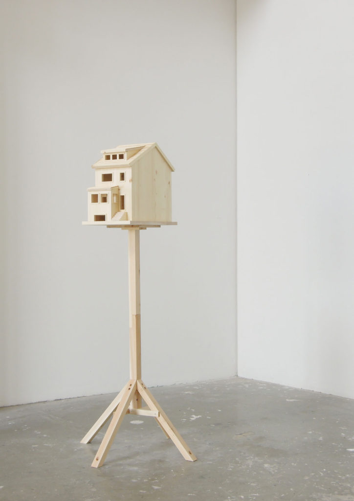 "Installation Image of ""Home as a Birdhouse"" by Nana Hirose & Kazuma Nagatani."