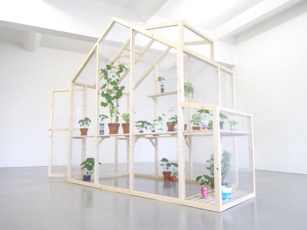 """Installation Image of """"Greenhouse"""" by Nana Hirose & Kazuma Nagatani."""